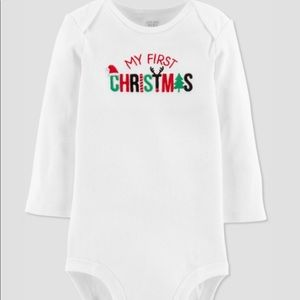 Carter's Just One You long sleeved holiday onesie